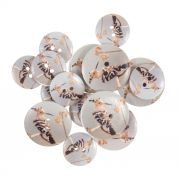 Painted Wooden Craft Buttons