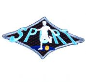 Craft Factory Iron or Sew On Fabric Motif Applique Sport
