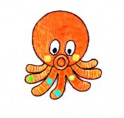 Craft Factory Iron or Sew On Fabric Motif Applique Octopus