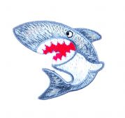 Craft Factory Iron or Sew On Fabric Motif Applique Shark