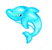 Craft Factory Iron or Sew On Fabric Motif Applique Dolphin
