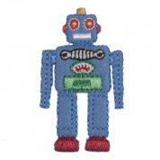 Craft Factory Iron or Sew On Fabric Motif Applique Robot