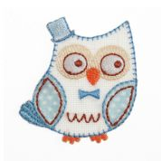 Craft Factory Iron or Sew On Fabric Motif Applique Owl