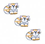 Craft Factory Iron or Sew On Fabric Motif Applique Three Cats
