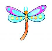 Craft Factory Iron or Sew On Fabric Motif Applique Dragonfly