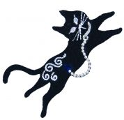 Craft Factory Iron or Sew On Fabric Motif Applique Black Cat