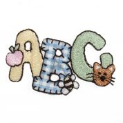 Craft Factory Iron or Sew On Fabric Motif Applique Patchwork ABC