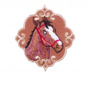 Craft Factory Iron or Sew On Fabric Motif Applique Horse Emblem