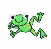 Craft Factory Iron or Sew On Fabric Motif Applique Jumping Frog