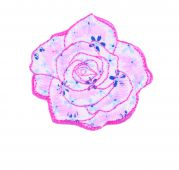Craft Factory Iron or Sew On Fabric Motif Applique Quilted Rose