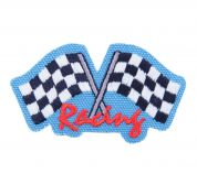 Craft Factory Iron or Sew On Fabric Motif Applique Racing Flags