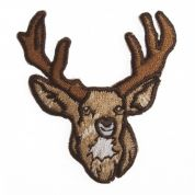Craft Factory Iron or Sew On Fabric Motif Applique Stag