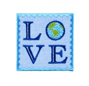 Craft Factory Iron or Sew On Fabric Motif Applique LOVE Earth