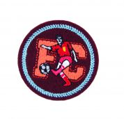 Craft Factory Iron or Sew On Fabric Motif Applique FC Football Player