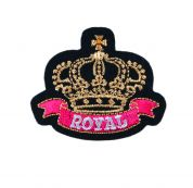 Craft Factory Iron or Sew On Fabric Motif Applique Royal Crown