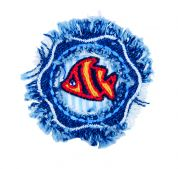 Craft Factory Iron or Sew On Fabric Motif Applique Fish