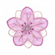 Craft Factory Iron or Sew On Fabric Motif Applique Flower