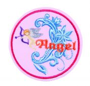 Craft Factory Iron or Sew On Fabric Motif Applique Angel Disc