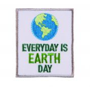 Craft Factory Iron or Sew On Fabric Motif Applique Earth Day