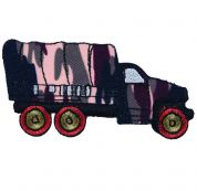 Craft Factory Iron or Sew On Fabric Motif Applique Army Truck