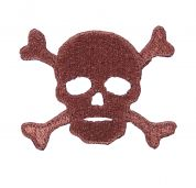 Craft Factory Iron or Sew On Fabric Motif Applique Skull & Cross Bones