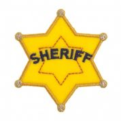 Craft Factory Iron or Sew On Fabric Motif Applique Sheriff Badge