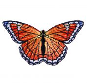 Craft Factory Iron or Sew On Fabric Motif Applique Orange Butterfly