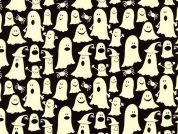 Timeless Treasures Glow Ghosts Glow In The Dark Poplin Quilting Fabric