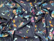 Butterfly Chambray Fabric  Blue