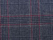 Check Polyester & Viscose Suiting Dress Fabric