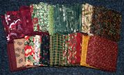Christmas 2 Cotton Quilting Fabric Fat Quarters  Assorted Colours