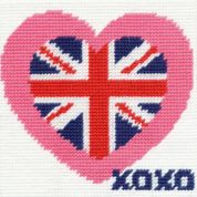 DMC Childrens Beginner Tapestry Kit British Hearts