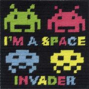 DMC Childrens Beginner Tapestry Kit Space Invader