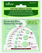 Clover Knitting Needle Gauge