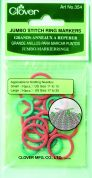 Clover Knitting Stitch Ring Marker Jumbo