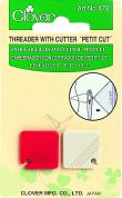 Clover Petit Needle Threader With Cutter