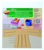 Clover Square Basket Frame Template