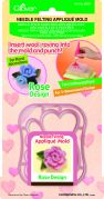 Clover Needle Felting Plastic Shaped Applique Mould Rose