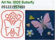 Clover Needle Felting Plastic Shaped Applique Mould Butterfly