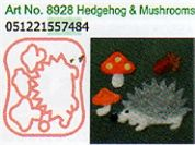 Clover Needle Felting Plastic Shaped Applique Mould Hedgehog