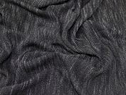 Clover Stretch Suiting Dress Fabric  Black Grey