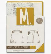Compagnie M. Ladies Sewing Pattern The Nina Skirt & Culottes