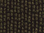 Timeless Treasures Asian Text Metallic Poplin Quilting Fabric