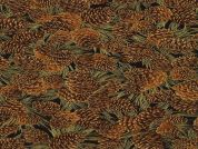 Timeless Treasures Pine Cones Metallic Poplin Quilting Fabric