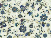 Timeless Treasures Ornate Floral Metallic Poplin Quilting Fabric