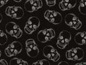 Timeless Treasures Skulls Metallic Poplin Quilting Fabric