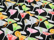 Timeless Treasures Cocktails Glitter Quilting Fabric