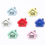Houses Buttons  Assorted Colours