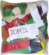 Mixed Bag of Felt Fabric Offcuts  Assorted Colours