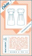 Colette Ladies Sewing Pattern 1001 Macaron Dress